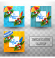 summer template background collections vector image vector image