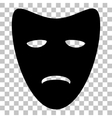 Tragedy theatrical masks Flat style black icon on vector image vector image