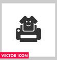 tshirt print icon vector image vector image