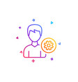 user settings line icon male profile sign vector image