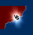 vs text with lightning versus battle sport vector image vector image