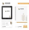 wheat business logo tab app diary pvc employee vector image