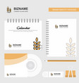 wheat logo calendar template cd cover diary and vector image vector image
