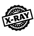 x-ray rubber stamp vector image vector image