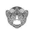 Zentagle monkey head vector image vector image