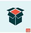 Box icon isolated vector image