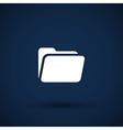 circle icon folder binder isolated file document vector image