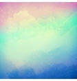 Abstract cloudy sky background vector image vector image