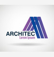 architect emblem business icon vector image