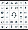 audio icons universal set vector image vector image