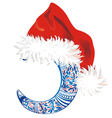 Background with Christmas hat vector image vector image