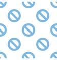 Ban seamless pattern vector image vector image