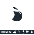 Bite apple icon flat vector image vector image