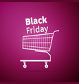 black friday sale shopping cart icon vector image