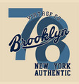 brooklyn new york authentic vector image
