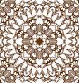 Brown Mandala Patterned Background vector image vector image