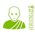 Buddhist Monk Icon With Free Bonus vector image vector image