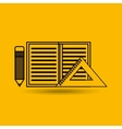 Calculator paper pencil education tools vector image