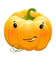cartoon fun toothy smile pumpkin character vector image vector image