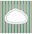 cloud retro background vector image