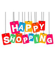 colorful hanging cardboard tags - happy vector image vector image