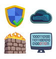 design of virus and secure icon set of vector image