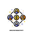 employee productivity icon corporate management vector image vector image
