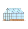 empty greenhouse with glass walls gable roof vector image