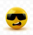 face with sunglasses emoji emoticon with dark vector image