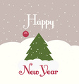 greeting card with a picture a christmas tree vector image