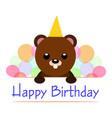 happy birthday background vector image vector image
