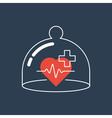 Health care icon heart pulse check up diagnostics vector image vector image