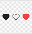 hearts like love live icons vector image vector image