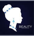 jewelry shop adverticing templatefemale head vector image vector image