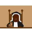 Judge in his wig passing judgment vector image