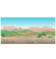landscape wild west scene creative vector image