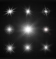 light effects of sparkling stars vector image vector image