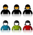 male female user symbols vector image vector image