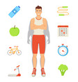 man sportive activities set vector image vector image