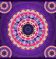 mandala pattern on purple fancy background for vector image
