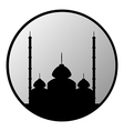 Mosque button vector image
