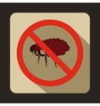 No flea sign icon flat style vector image vector image