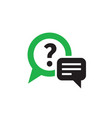 question answer chat icon design consulting help vector image
