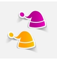 realistic design element santa hat vector image
