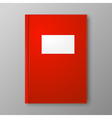 Red Book on gray background vector image vector image
