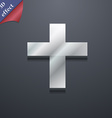 religious cross Christian icon symbol 3D style vector image vector image