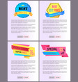 sale special offer order buy now web poster vector image vector image