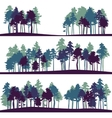set different landscape with pine trees vector image vector image