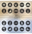 Set of Dubai icons vector image