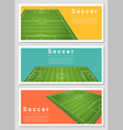 Set of Football field graphic background 2 vector image vector image